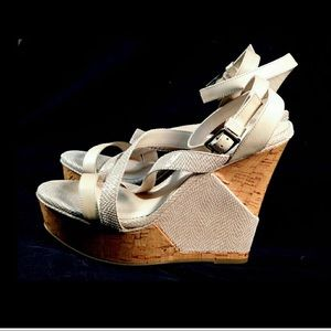 "BCBG Generation 5 1/2"" wedge sandals."
